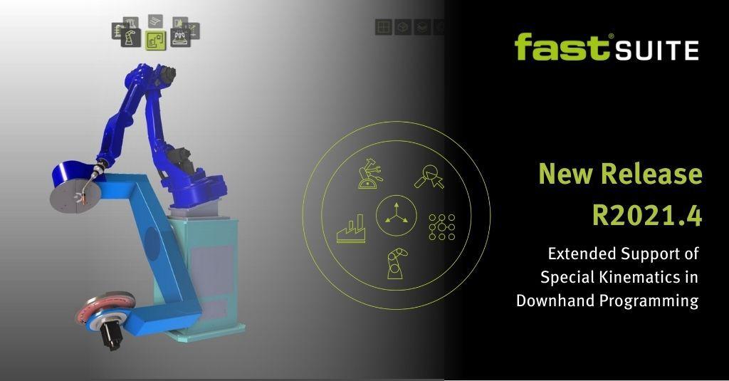 FASTSUITE飞思德R2021.4俯焊定位功能几乎可以用于任何类型工件变位机